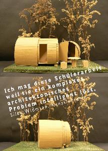 """""""Ich mag diese Schülerarbeit, weil sie ein komplexes architektonisches Problem intelligent löst."""" Silke Wißmann, Kunstlehrerin"""
