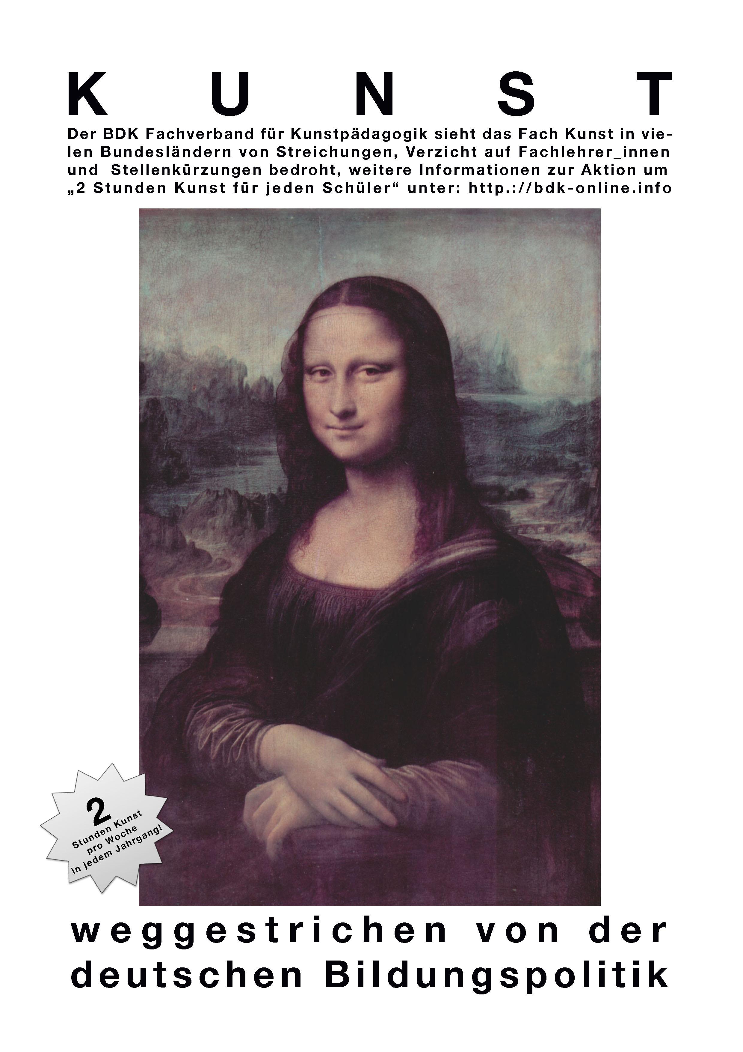 weggestrichen.Mona Lisa